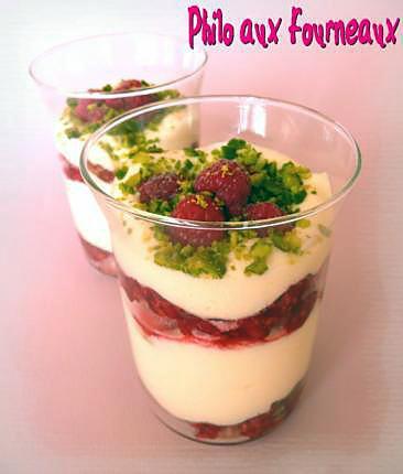 recette Tiramisu aux framboises & à la pistache