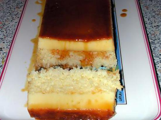 recette Gâteau fondant caramélisé à la noix de coco