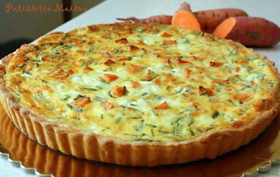 recette de quiche patate douce feta et pignons croquants. Black Bedroom Furniture Sets. Home Design Ideas