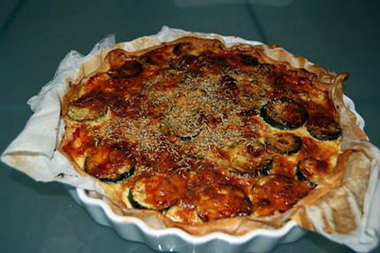 recette Tarte salée Courgettes Tomates