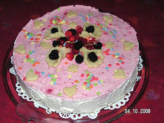 recette Gâteau aux fruits rouges