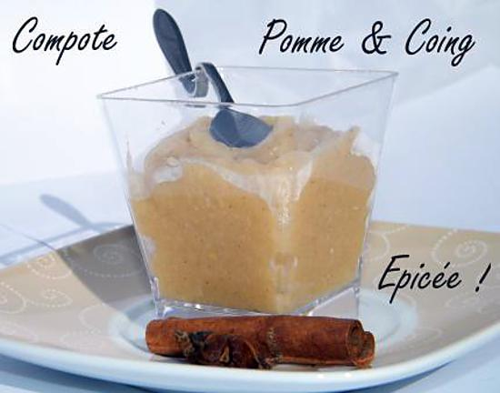 recette Ooo Compote pomme/coing épicée ooO