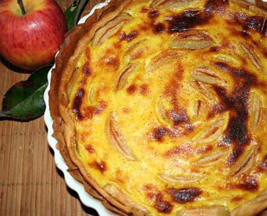 recette Tarte aux pommes façon alsacienne