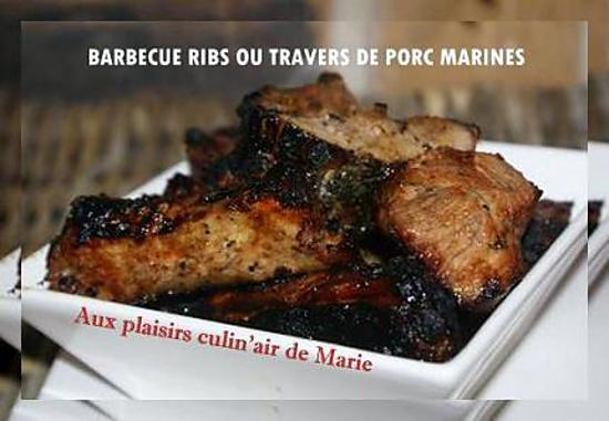 recette de barbecue ribs ou travers de porc marines. Black Bedroom Furniture Sets. Home Design Ideas