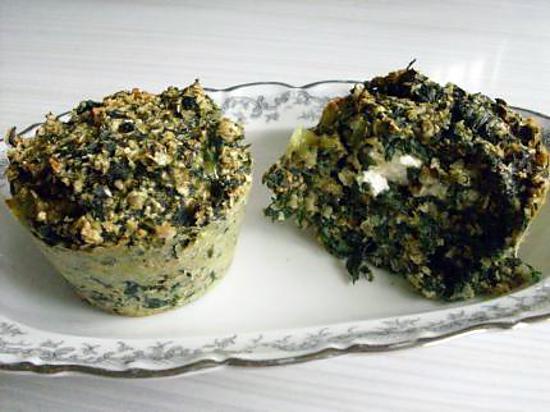 recette de muffins aux epinards et c ur de fromage frais. Black Bedroom Furniture Sets. Home Design Ideas