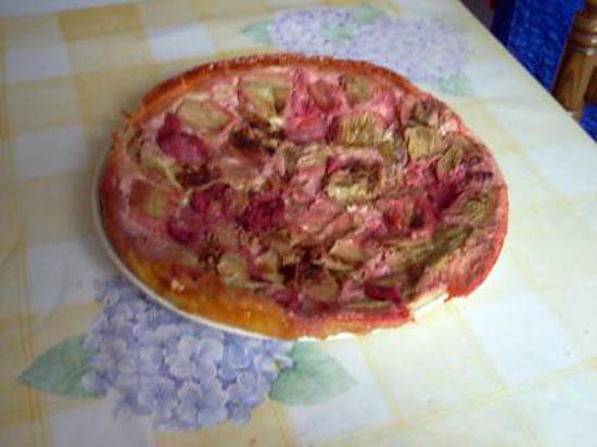 recette tarte a la rhubarbe et fraises