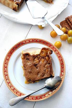 recette Tarte aux mirabelles et spéculoos