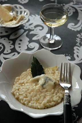recette de risotto au parmesan gorgonzola et vin blanc. Black Bedroom Furniture Sets. Home Design Ideas