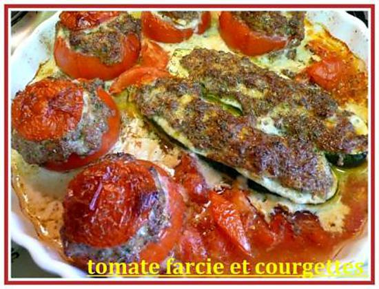 recette de tomates farcies et courgettes. Black Bedroom Furniture Sets. Home Design Ideas