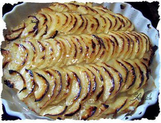 recette tarte aux pommes et raisins de corinthe