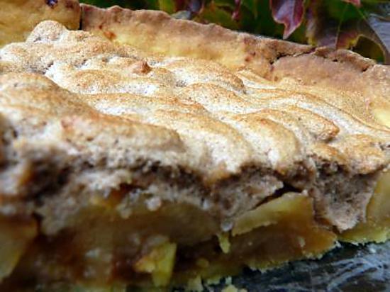 recette Tarte aux pommes meringuée à la crème de marron