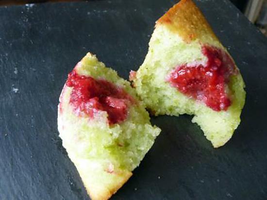 recette Financiers pistache-framboises