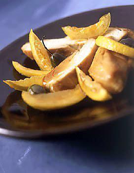 recette Papillote de blancs de poulet au citrons