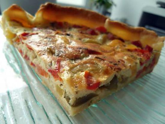 recette de tarte poivrons chevre jambon. Black Bedroom Furniture Sets. Home Design Ideas