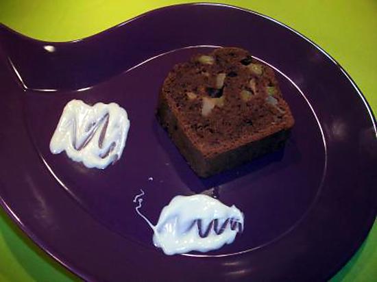 recette de cake au chocolat kiwi pomme. Black Bedroom Furniture Sets. Home Design Ideas