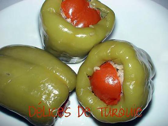 Recette de poivrons farcis la turque - Recettes de cuisine turque ...