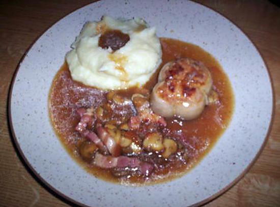 recette Paupiette de veau braisé a brun sauce champignons