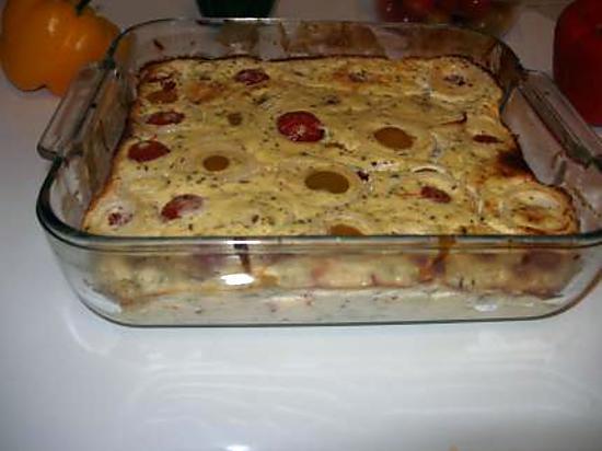 recette Gâteau plume aux tomates cerise, à l'oignon et au basilic d'eryn