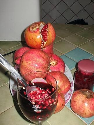 recette grains de grenades au vin rouge et cannelle
