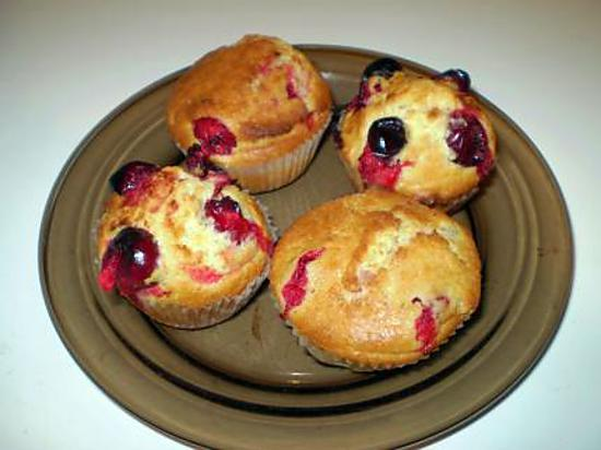 recette muffins aux canneberges( cramberries)fraîches