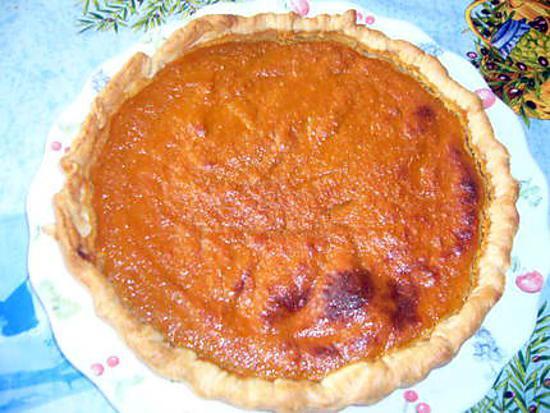 recette tarte fondante de potiron aux amandes