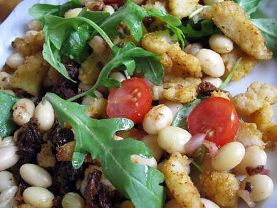 Recette de salade ti de de cocos de paimpol roquette et for Salade poisson