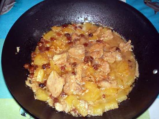 recette sauté de porc a l'ananas