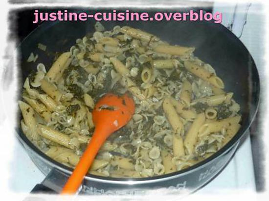 Recette de Pâtes sauce aux épinards