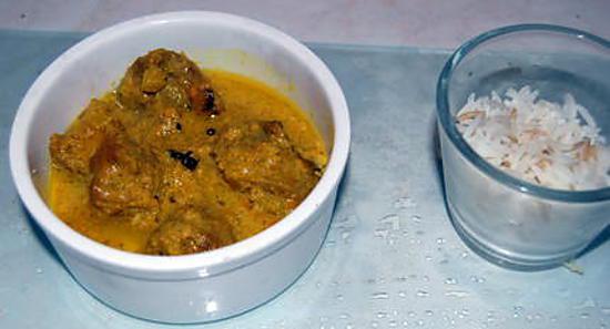 recette Dinawal Korma, ou un curry d'agneau sans curry