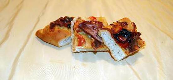 recette Focaccia Tomates Cerise, Bacon