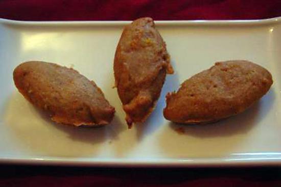 recette Ptits pains d'épices aux agrumes en barquette - sans oeuf ni matière grasse ajoutée