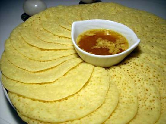 recette Baghrir  (crèpes 1000 trous)