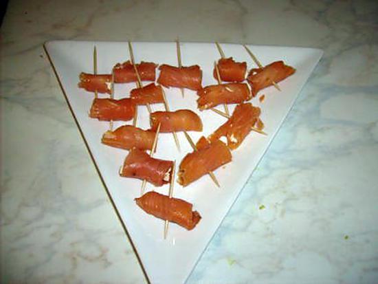 recette Bouchées de saumon