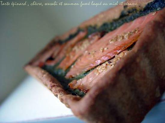 recette de tarte aux pinards frais ch vre wasabi et. Black Bedroom Furniture Sets. Home Design Ideas