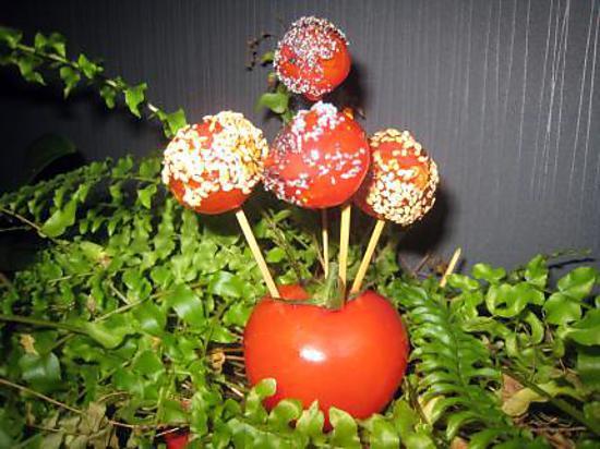recette tomates cerises caramélisées