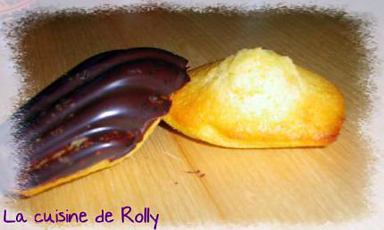recette Madeleines, coques chocolat
