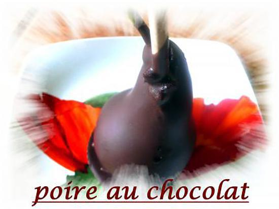 recette poire au chocolat