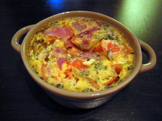 recette clafoutis de coppa et tomates