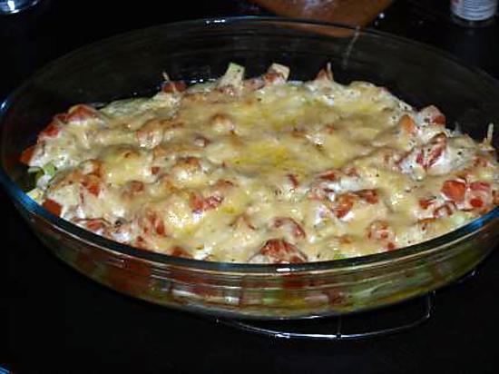 recette gratin courgettes tomates