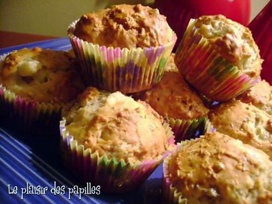 recette ~Muffins aux bananes et au gruau~