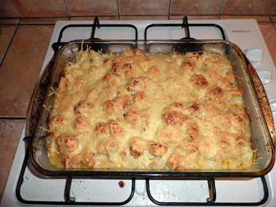 recette gratin de choufleur au poulet