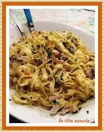 recette Tagliatelles aux fruits de mer et au conté rapé