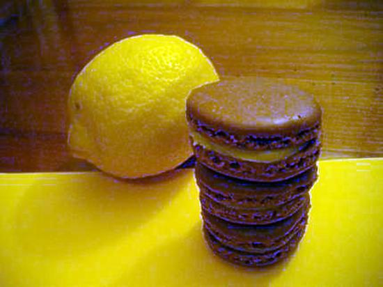 recette macarons chocolat ganache au citron