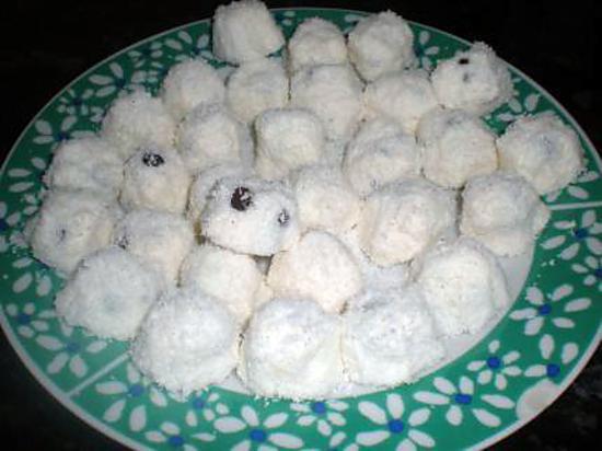 recette boule ricotta coco pépites de chocolat