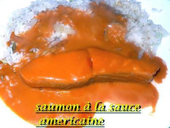 recette saumon à la sauce américaine
