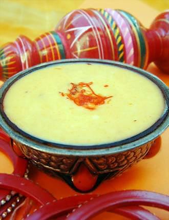 recette Crème indienne à la mangue