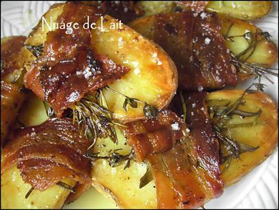 Recette de pommes de terre au four thym et romarin - Pomme de terre paillasson au four ...