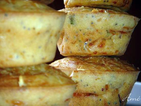 recette Muffins aux lardons, gruyère, persil, ciboulette et graines de pavot