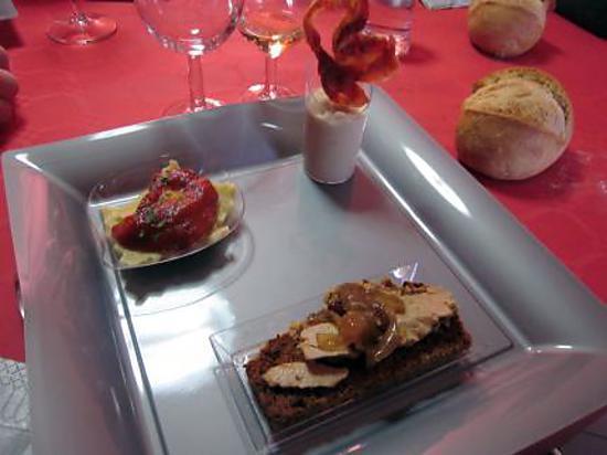 Recette d 39 assiette d entree festive for Entrees festives faciles