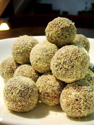 recette Truffes chocolat nougatine...